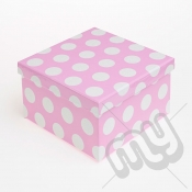 Pink Polka Dot Glitter Luxury Gift Box - SIZE 3