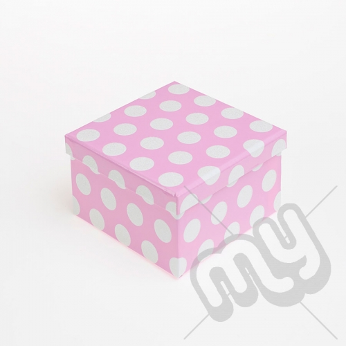 Pink Polka Dot Glitter Luxury Gift Box - SIZE 5
