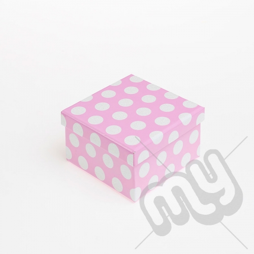Pink Polka Dot Glitter Luxury Gift Box - SIZE 6