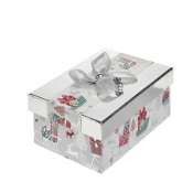 A Magical Silver Rectangular Christmas Gift Box – Medium