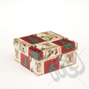 Stockings & Stamps Rectangle Christmas Gift Box - Medium
