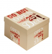 Do Not Open Until 25th December Christmas Gift Box - Size 1
