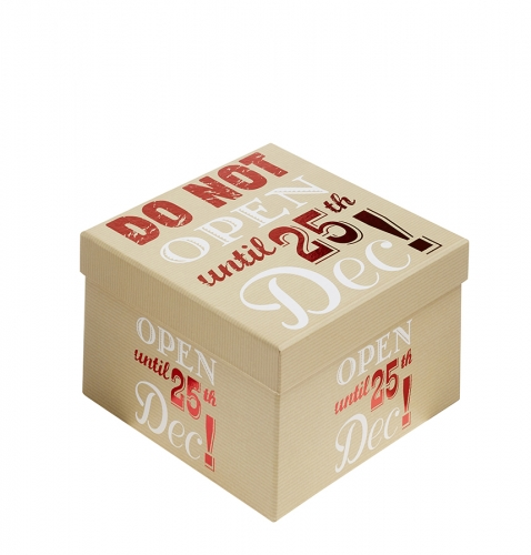 Do Not Open Until 25th December Christmas Gift Box - Size 3