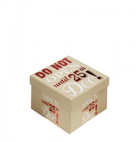 Do Not Open Until 25th December Christmas Gift Box - Size 5