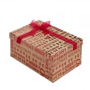 Merry Christmas Kraft Square Christmas Gift Box – Small