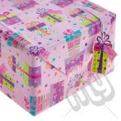 ' With Love ' Wrapping Paper - 2 Sheets & 2 Tags