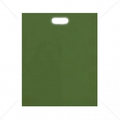 Harrods Green Patch Handle Fashion Carrier Bags 38x46+8cm x 500pcs