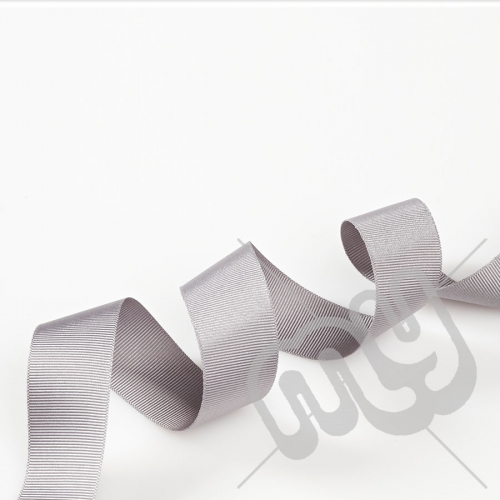 Silver Grosgrain Ribbon 25mm x 20 metres