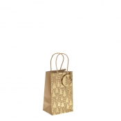Gold Metallic Christmas Tree Kraft Paper Gift Bag with Twisted Handles – Small x 1pc