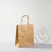 Gold Kraft Paper Bags with Twisted Handles - Small x 25pcs
