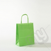 Green Kraft Paper Bags with Twisted Handles - Small x 25pcs