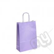 Lilac Purple Kraft Paper Bags with Twisted Handles - Medium x 25pcs