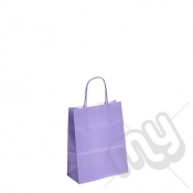 Lilac Purple Kraft Paper Bags with Twisted Handles - Small x 25pcs