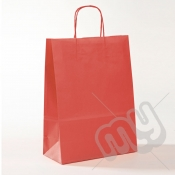 Red Kraft Paper Bags with Twisted Handles - Large x 25pcs