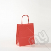 Red Kraft Paper Bags with Twisted Handles - Small x 25pcs