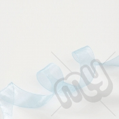 Sky Blue Organza Ribbon 10mm x 25 metres