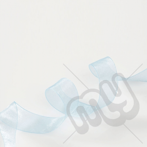 Sky Blue Organza Ribbon 15mm x 25 metres