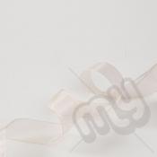 Champagne Organza Ribbon 10mm x 25 metres