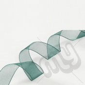 Green Organza Ribbon 15mm x 25 metres