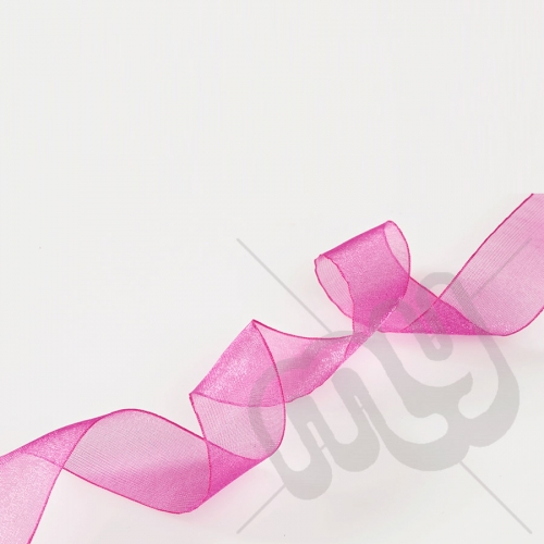 Fuschia Pink Organza Ribbon 10mm x 25 metres