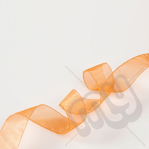 Orange Organza Ribbon 10mm x 25 metres