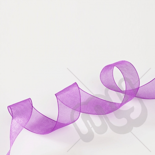 Purple Organza Ribbon 15mm x 25 metres