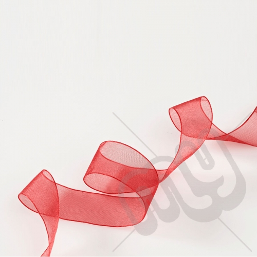 Red Organza Ribbon 10mm x 25 metres