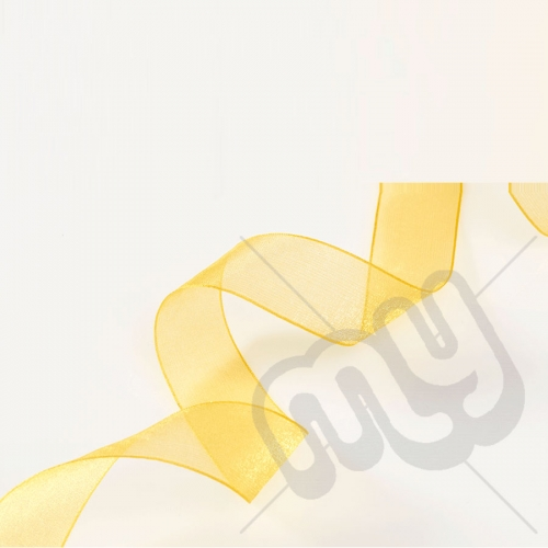 Yellow Organza Ribbon 15mm x 25 metres