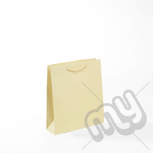 Cream Luxury Matt Laminated Rope Handle Carriers - SMALL x 1pc