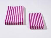 5 x 7 Pink Candy Stripe Paper Bags x 1000pcs