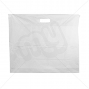 White Patch Handle Fashion Carrier Bags 55x45+8cm x 500pcs