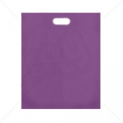 Purple Patch Handle Fashion Carrier Bags 38x46+8cm x 100pcs