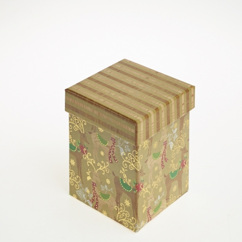 Golden Reindeer Christmas Gift Box - Small