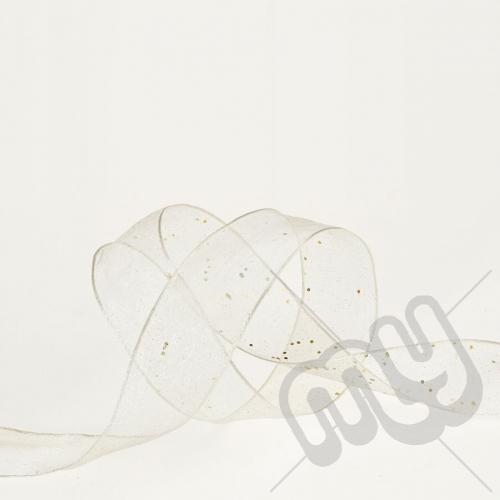 Silver Random Glitter Ribbon 25mm x 20metres - WIRED