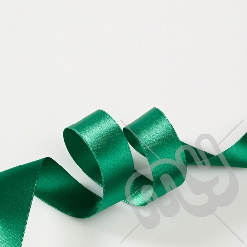 Green Double Satin Ribbon 25mm x 20 metres