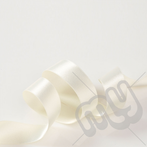 Ivory Double Satin Ribbon 25mm x 20 metres
