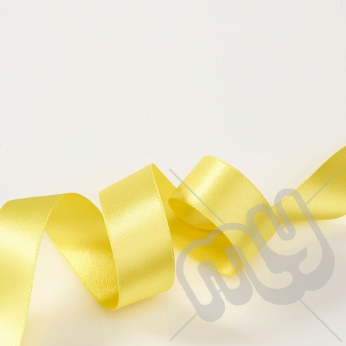 Yellow Double Satin Ribbon 25mm x 20 metres