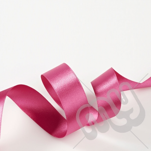 Fuschia Pink Double Satin Ribbon 25mm x 20 metres