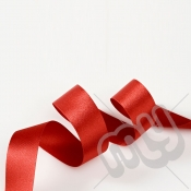 Red Double Satin Ribbon 15mm x 20 metres