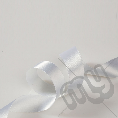 White Double Satin Ribbon 25mm x 20 metres