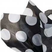 Black & White Polka Dot Tissue Paper - 6 Sheets