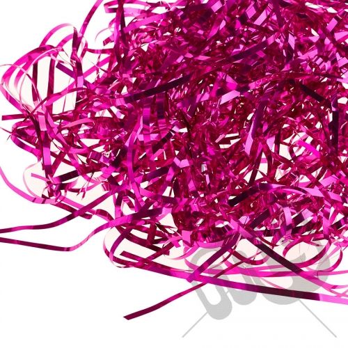 Fuschia Pink Foil Shredded Tissue Paper - 25 Grams