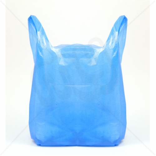 Blue Recycled Plastic Carrier Bag 13x19x23 25 micron (Heavy Strength) x 1000pcs