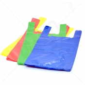 Coloured Plastic Carrier Bag 11x17x21 15 Micron ( Medium Strength) x 2000pcs