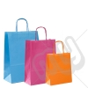 Coloured Kraft Twisted Paper Carrier Bags