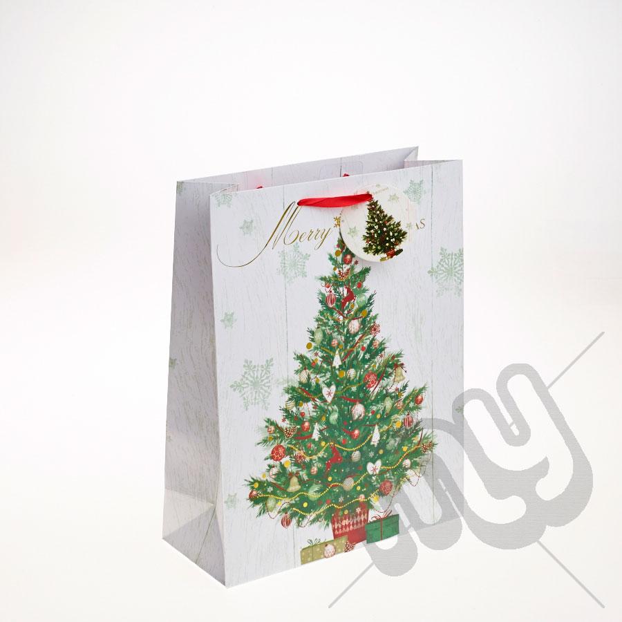 6pcs 27cm Christmas Tree Honeycombs Tissue Paper Trees: Decorated Christmas Tree Christmas Gift Bag