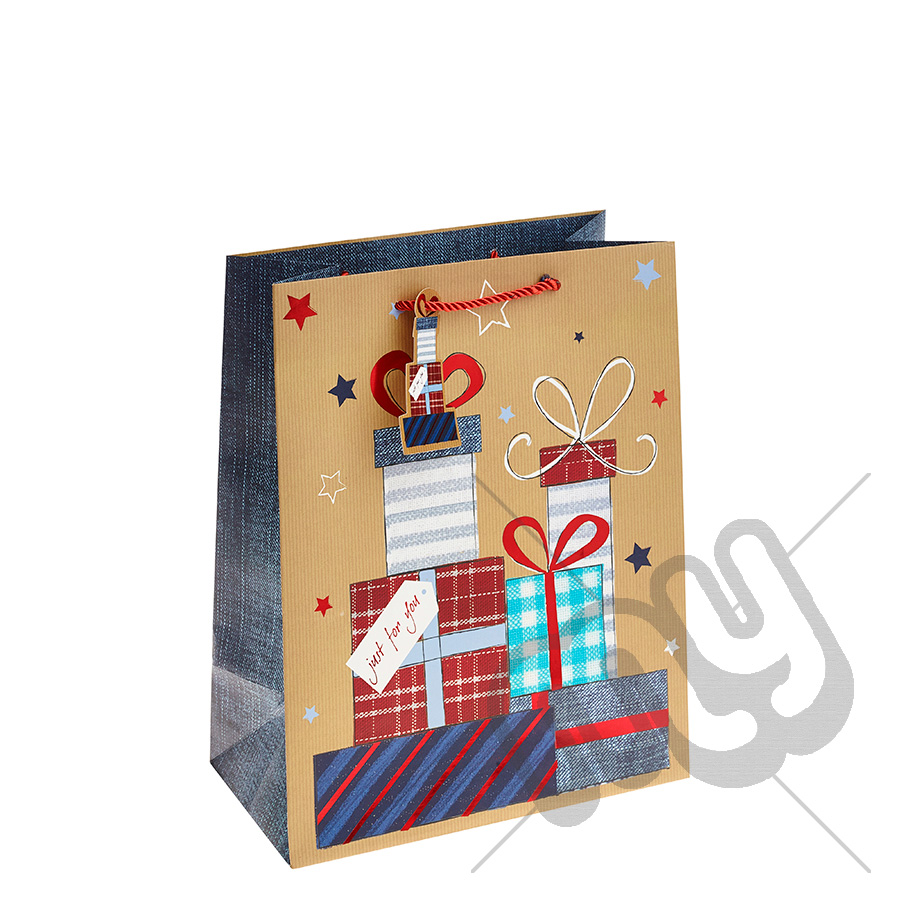 ' Just For You ' Gift Bag with Foil Detail - Large x 1pc ...