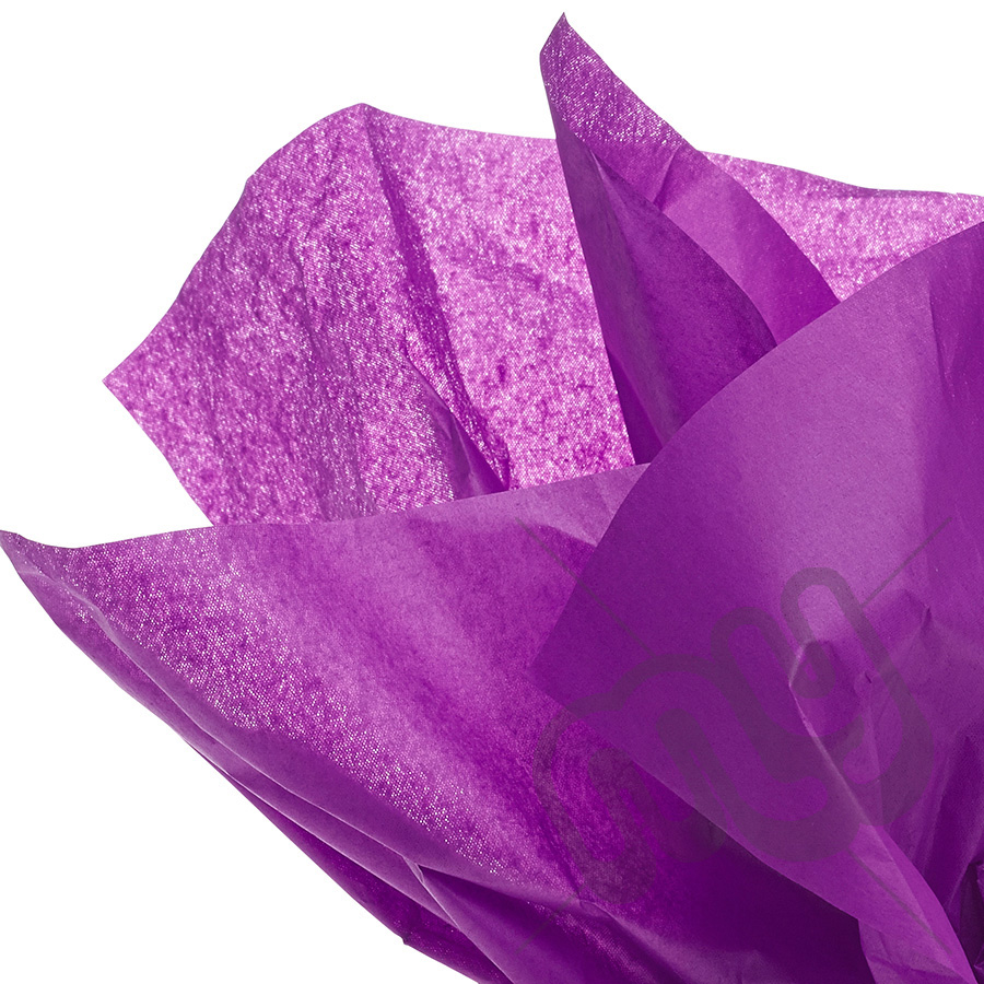 purple tissue paper flowers