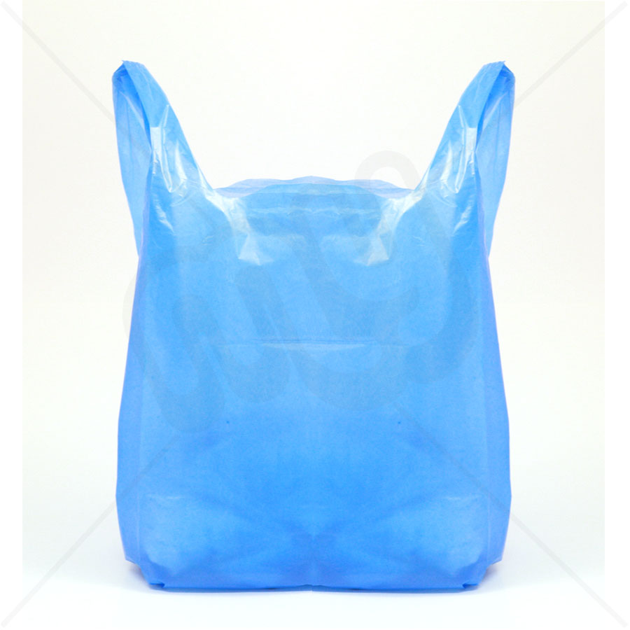 carrier bags. blue recycled plastic carrier bag 13x19x23 25 micron (heavy strength) x 1000pcs bags g